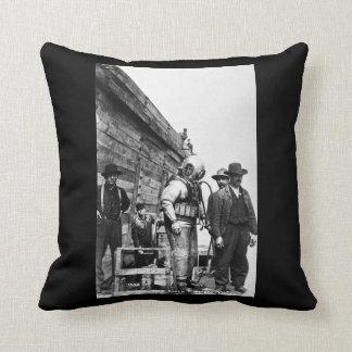 Louis Pesha The Diver Vintage Hard Hat Pillow