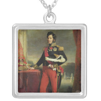 Louis-Philippe I , King of France Silver Plated Necklace