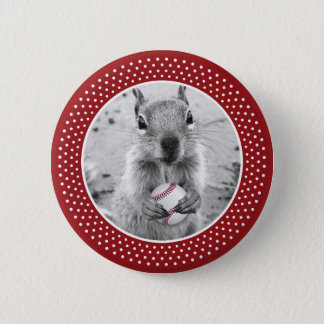 Louis Rally Squirrel - baseball Pinback Button
