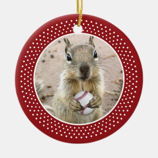 Louis Rally Squirrel Ceramic Ornament