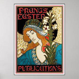Louis Rhead Poster: Prang's Easter