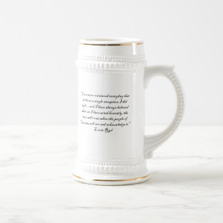 LOUIS RIEL QUOTE 1 BEER STEIN