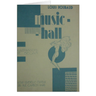 Louis Roubaud 1929 Paris Art Deco Greeting Cards