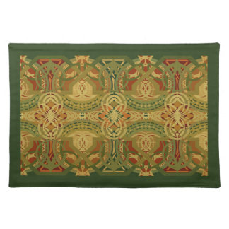 Louis Sullivan Upper Beam Stencil Pattern Placemat
