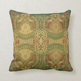 Louis Sullivan Upper Beam Stencil Pattern Throw Pillow