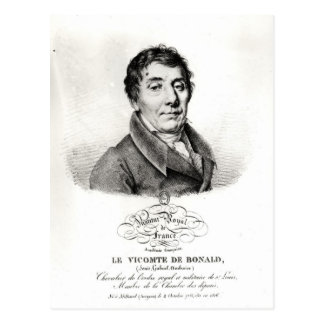 Louis, Vicomte de Blonald  1820 Postcard