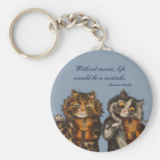 Louis Wain - A Gift for Cat Lovers Basic Round Button Keychain
