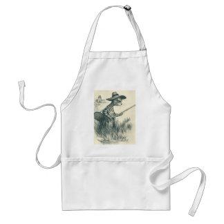 Louis Wain Artwork -- Gone Fishing Cat Aprons