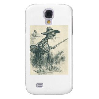 Louis Wain Artwork -- Gone Fishing Cat Galaxy S4 Cases