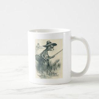 Louis Wain Artwork -- Gone Fishing Cat Classic White Coffee Mug