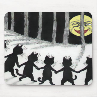 Louis Wain Black Cat Moon Mousepad