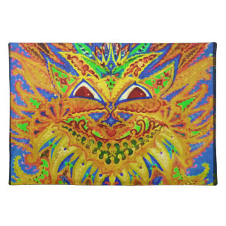 Louis Wain - Blue Paisley Cat Cloth Placemat