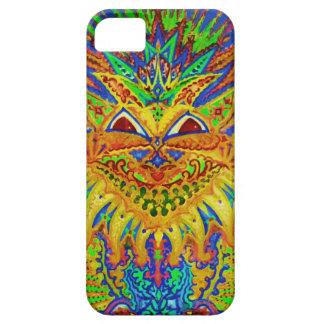 Louis Wain - Blue Paisley Cat iPhone SE/5/5s Case