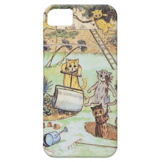 Louis Wain - caso divertido de los gatos iphone5 Funda Para iPhone 5 Barely There