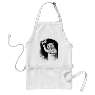 Louis Wain Cat Artwork Dr. Quack Adult Apron