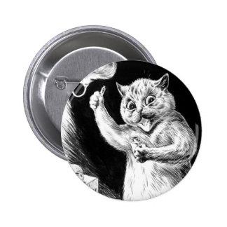 Louis Wain Cat Artwork Dr. Quack Pinback Buttons