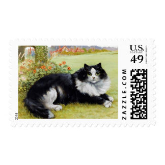 Louis Wain Cat Postage Stamp, Maine Coone