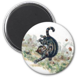 Louis Wain Cat Takes a Tumble Magnet