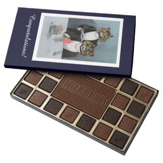 Louis Wain Cat Waiter - Congratulations Chocolates