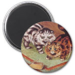 Louis Wain Cats and a Mousetrap 2 Inch Round Magnet