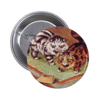 Louis Wain Cats and a Mousetrap Button
