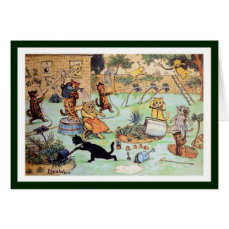 Louis Wain - Cats in the Garden Card
