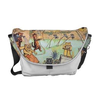 Louis Wain - Cats in the Garden Messenger Bags