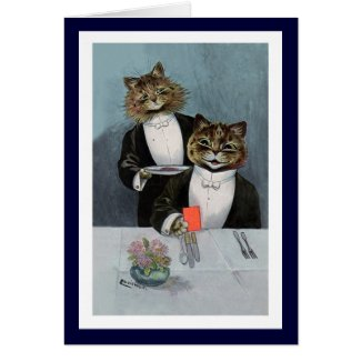Louis Wain - Cats in Tuxedos - Cute Vintage Art Card