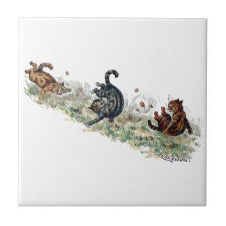 Louis Wain Cats Take a Tumble Tile