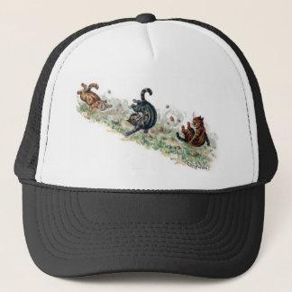Louis Wain Cats Take a Tumble Trucker Hat