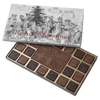 Louis Wain Christmas Chocolates - Vintage Cats 45 Piece Box Of Chocolates