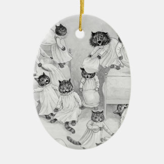 Louis Wain Christmas Ornament - The Pillow Fight