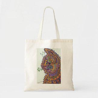 Louis Wain Fantasy Wallpaper Tote Bag