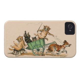 Louis Wain - Funny  Anthropomorphic Cats iPhone 4 Case-Mate Case