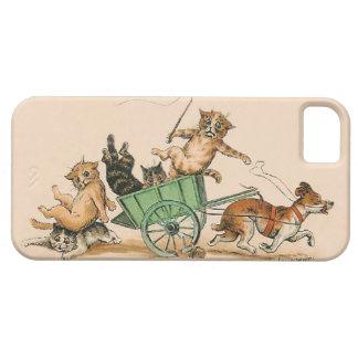 Louis Wain - gatos antropomorfos divertidos iPhone 5 Protector
