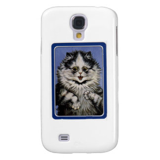 Louis Wain Gray Cat Artwork Samsung Galaxy S4 Case
