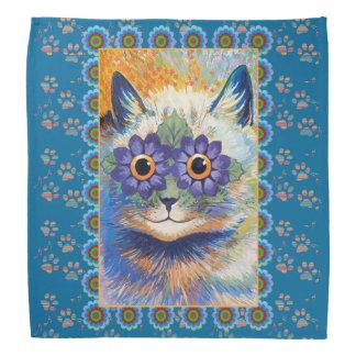 Louis Wain Hippie Flower Cat Bandana