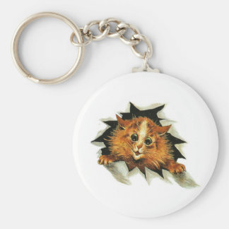 Louis Wain Ice Cat Artwork Keychains