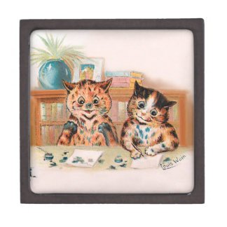 Louis Wain Kitten Writers With Inky Paws Jewelry Box
