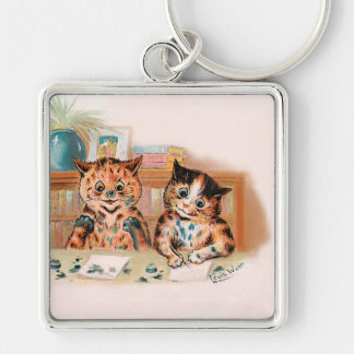 Louis Wain Kitten Writers With Inky Paws Keychain
