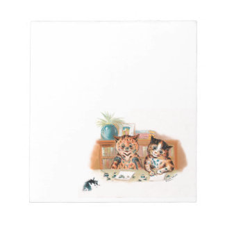 Louis Wain Kitten Writers With Inky Paws Note Pad