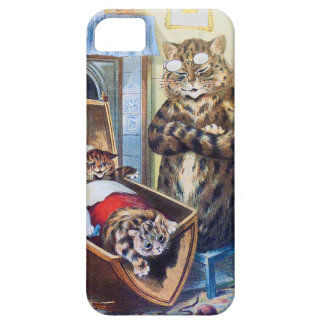 Louis Wain Mother Cat with Kittens iphone5 case