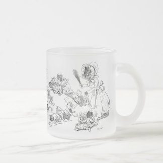Louis Wain Old Cat in Shoe Nursery Rhyme Frosted Glass Coffee Mug