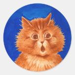 Louis Wain Surprised Orange Cat Stickers