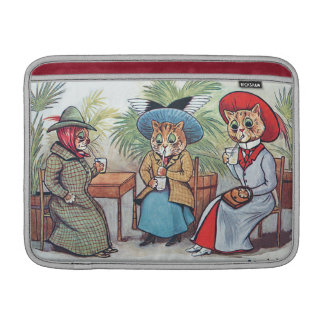 Louis Wain - Three Victorian Cats Sipping Drinks Sleeve For MacBook Air