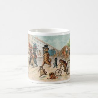 Louis Wain - Town Cats - Vintage Art Coffee Mug