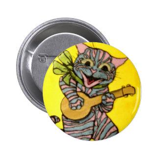 Louis Wain Ukulele Cat Artwork Pins