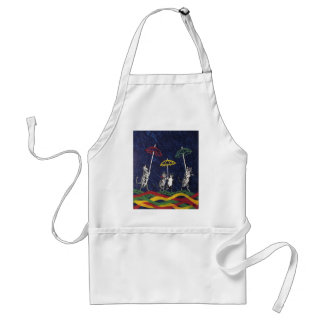 Louis Wain Umbrella Cats Artwork Adult Apron
