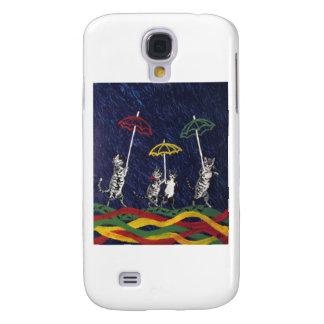 Louis Wain Umbrella Cats Artwork Samsung Galaxy S4 Covers