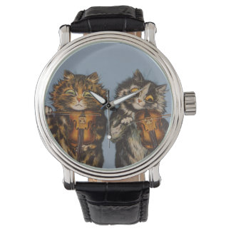 Louis Wain - violinistas del gato Reloj De Mano